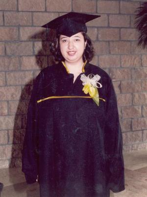 Marybel Guzmán Hernández, el día de su graduación del Tecnológico de la Laguna.