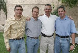 <b>29 de abril</b><p> Luis de la Rosa, José Revuelta, Hugo Ollivier y Marcelo Torres.