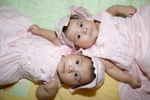 Las gemelas Anna Metzli y Dafne Lilian son hijas de Gerardo Rivas Ávalos y Anna Lilian Guzmán