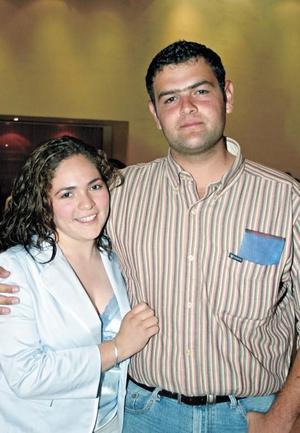 Esther Kermedy Jalife y Rafael Saborit