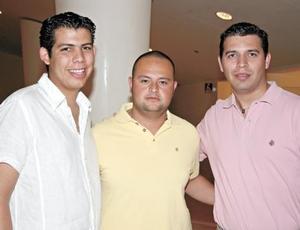 Ricardo Borbolla, Ricardo Serrano y José A. Fuente