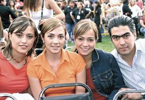 Laura Zermeño, Karen Plata, Daniela Rubio y Poncho Campa