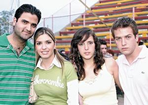 David Portal, Katia Villarreal, Ana Laura Quintero y Roberto Villarreal