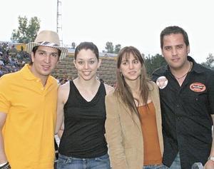 Rogelio Montes de Oca, Susu Luna, Daniela Murra y Rogelio Cuellar