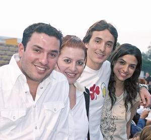 Beto Palacios, Liliana Fernández, Jorge del Valle y Cecy Murra
