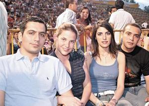 Rogelio Barrios, Gaby de Barrios, Cecy de Villarreal y Baltazar Villarreal