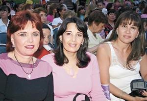 Estelita de Obeso, Claudia de Rebollo, Pilar de Cobos y Sandra de Garza