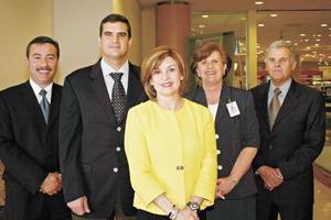 Jaime Manrique, Alfredo Murra, Nury Murra, Magdalena Leal y Rolando González Leal