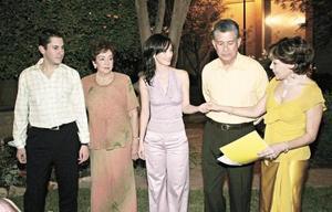 Carlos Cantú Quintero, María Teresa Pámanes Quintero, Ángela María Aguilar Gómez, René Cantú Charles y María Teresa Quintero de Cantú