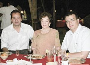 Javier Orduña, María Teresa Pámanes de Quintero y Francisco Mijares Quintero