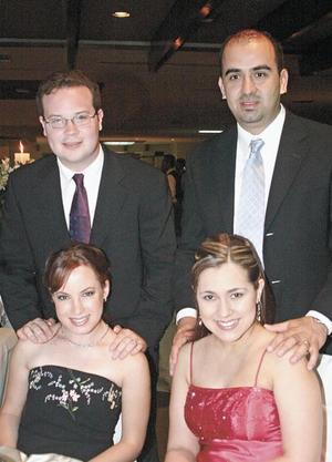Rodrigo Pérez y Sra. y Bruno Solís y Sra.