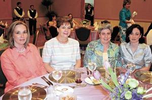 Ana Isabel Reyero de García, Susana de Jalife, Maruca de Cuerda y Lourdes Cuerda