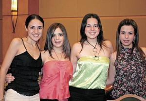 Paola Pámanes, Lydia Cárdenas, Any Ochoa y Sofía Máynez