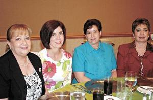 Pily Martínez de Rodríguez, Mavisa Rodríguez Garza, Ana Mary de Fernández y Marusa Tueme de Fernández