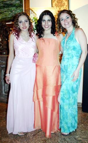 Jéssica Guzmán, Lizeth Salazar y Marisol Aldaba