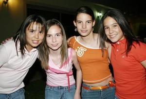 Marcela, Renata, Lorena y Lucía