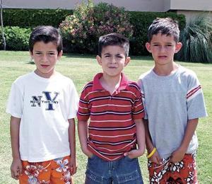 Javier Lechuga, Jaime Gurrola y Rodolfo González.