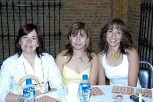 Pilar Rodríguez, Rocío Rodríguez y Brenda Castellano.