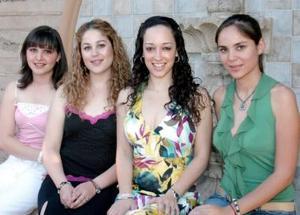 Karina con sus amigas María Idalia Chapa, Karla Rubio e Ileana Villa.