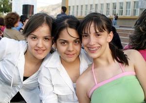 Cristy Cárdenas, Marcela Pedraza y Pamela Gamboa.
