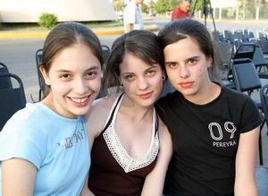 Gaby Treviño, Pili Mireles y Brenda Sánchez
