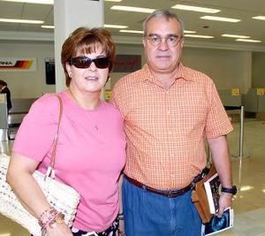 David y Marcela Sada viajaron a Los Cabos.