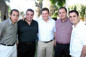 <b>04 de mayo </b> Ricardo Camacho, Jorge Nieto, Filiberto Cepeda, Jesús Alday y Pablo Carrillo