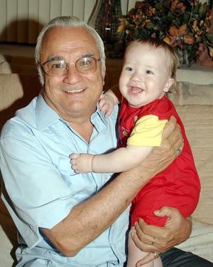 Jorge Rivera y su nieto Luis Fernando Rivera Cruz.