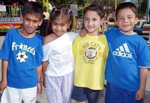 Kevin Aguilar, Fernanda Reyes, Eder Ávila y Guillermo Alvarado.
