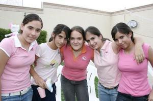 Jenny Dingler, Susana Alonso, Noelie Cabello, Andrea Llamas y Cristy Arroyo