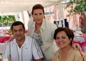 Pablo Graña, Fabiola Saiz y Marichu Barrios.