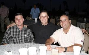 Ricardo Villalobos, Gabriel Urbieto y Patricio Madero.
