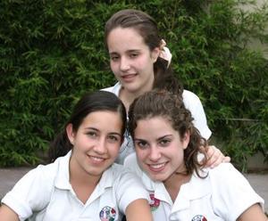 Isabel Sesma, Yolanda Murra y Lucía Díaz