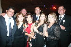 Manuel González, Rocío de González, Rolando Reed, Lucía de Reed, Pepe Campillo, Roberto Villarreal y Mónica de Villarreal