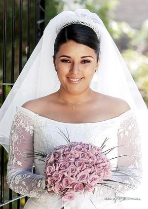 Srita. Rosalba Selene Díaz González el día de su enlace nupcial con el Sr. Carlos Manuel Saucedo Castillo.