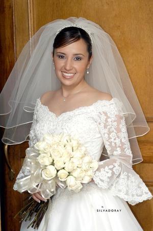 Srita. Mirna Evelyn López Ramírez, el día de su enlace matrimonial con el Sr. Iván de la Torre Carreón