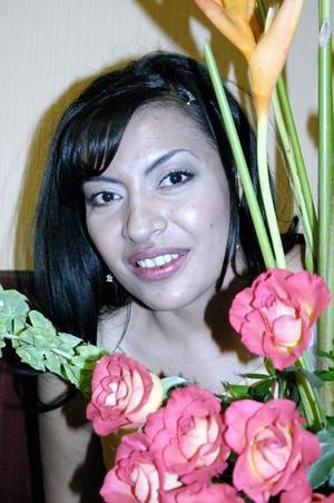 Gabriela Hernández Moreno, captada en la despedida de soltera que le organizaron.