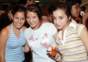Anilú Cepeda, Elisa Cuan y Blanca Salazar.