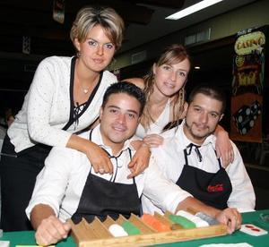 Gaby  y Pablo Armendáriz, Raniero Sambuci y su esposa Ivette