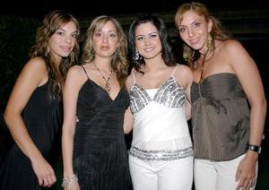 María Sofía Cobo, Andrea Valencia, Ana Sofía de De la Garza y Scarlett de Franco.