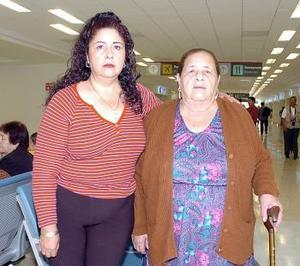 <b>08 de mayo </b> <p> María de los Ángeles Sánchez y Francisco Aguilar viajaron a Los Ángeles.