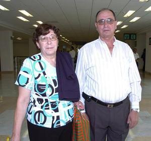 María del Carmen Cortizo y Manuel Pontevedra viajaron al DF.