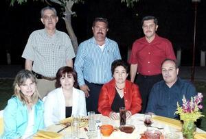 Sergio y Luly Berlanga, Gabriel y Maru Kort, Jorge y Lucila Hernández y Rodolfo Castro