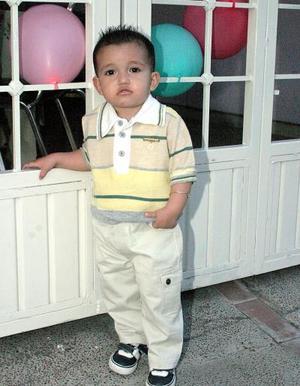 El pequeño Gerardo Antonio Ibarra Ceniceros captado en reciente convivio.