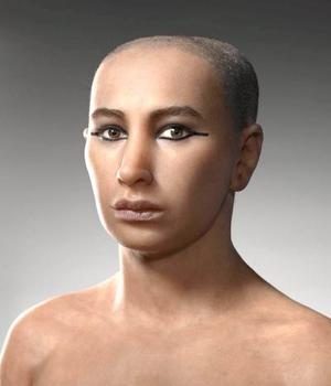 Las autoridades arqueológicas de Egipto expusieron un busto del faraón Tutankamón cuyas facciones son similares al modelo de su cabeza que han reconstruido tres equipos de científicos peritos egipcios, franceses y estadounidenses.