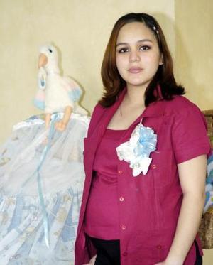 Laura Farías, futura mamá.