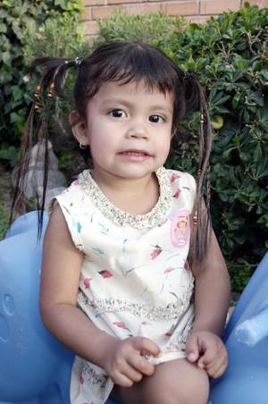 Fátima Mejía cumplió tres años de vida, y los festejó con una merienda.