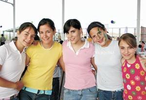 Melissa Pollot, Lety Romo, Luz Ma Ramírez, Andrea Martínez y Aranza Bracho
