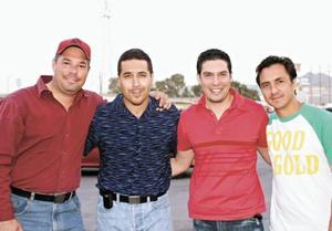 Salim Fahur, Emilio Flores, Jorge Méndez y Guillermo