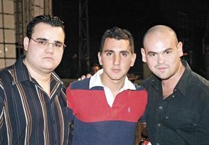 Memo Herrera, Luis Monroy y Adrián Ortiz